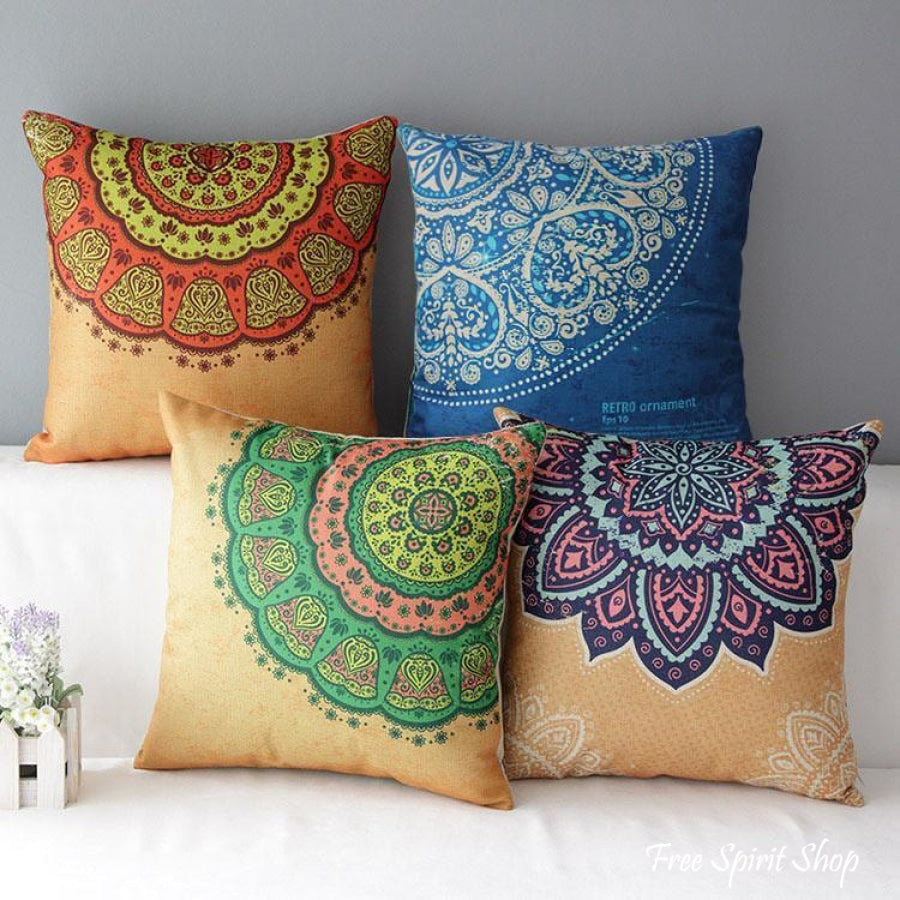 Floral Mandala Pillow Cases - 3 designs - Free Spirit Shop