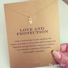 Hamsa Hand Love & Protection Necklace - Gold or Silver - Free Spirit Shop