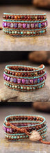 Handmade Jasper Mix Love Wrap Bracelet - Free Spirit Shop
