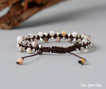 Handmade Natural Jasper Gemstone Braided Bracelet - Free Spirit Shop