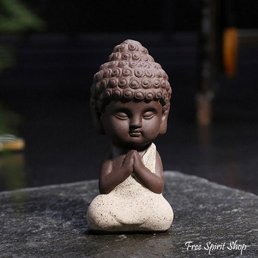 Little Buddha Statue In Ceramic 4 Colours Free Spirit Shop