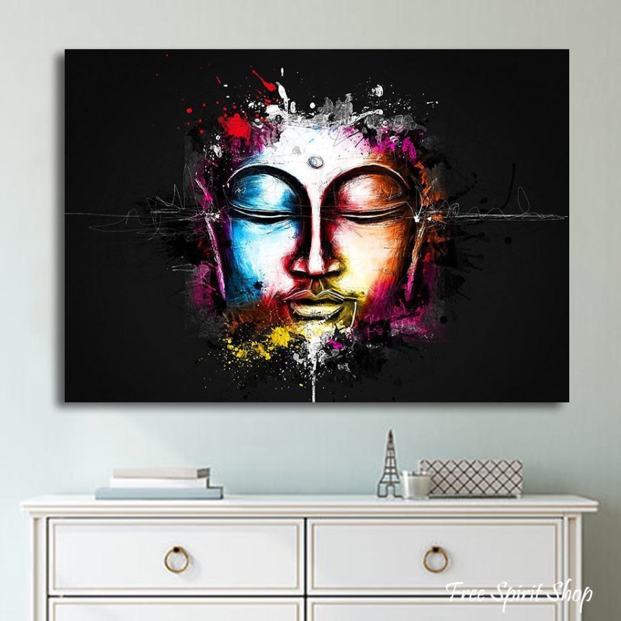 Modern Feng Shui Buddha Canvas Painting - Free Spirit Shop