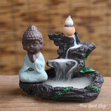 Mountain River Little Monk Back-Flow Ceramic Incense Burner - Free Spirit Shop