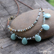 Natural Amazonite Teardrop Necklace - Free Spirit Shop