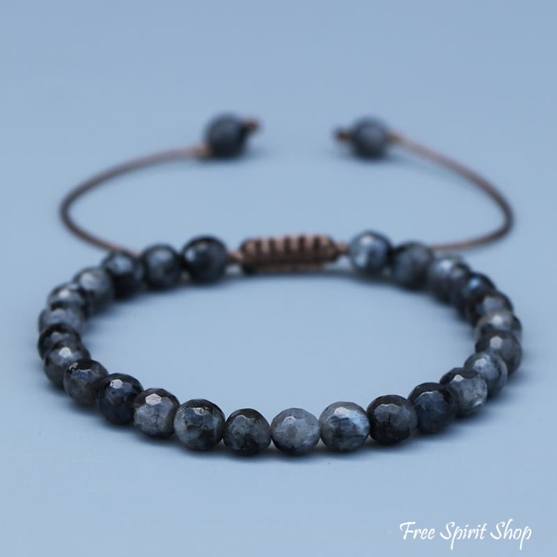 Natural Faceted Labradorite Shamballa Bracelet Free Spirit Shop