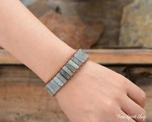 Natural Labradorite Gemstone Leather Wrap Bracelet - Free Spirit Shop