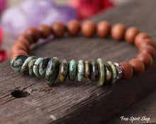 Natural Sandalwood & Healing Gemstone Bead Bracelets - Free Spirit Shop