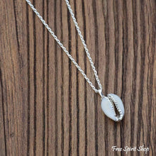 Natural Shell Pendant With Silver Chain - Free Spirit Shop