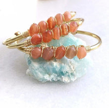 Natural Sunstone Gold Cuff - Free Spirit Shop
