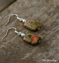 Natural Unakite Drop Earrings - Free Spirit Shop