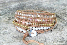 Natural White Selenite & Sunstone Wrap Bracelet - Free Spirit Shop