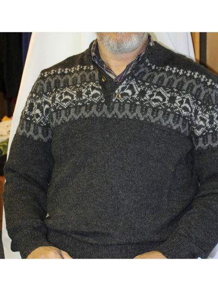 Men's Alpaca Print Sweater