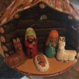 Ceramic Log House Nativity