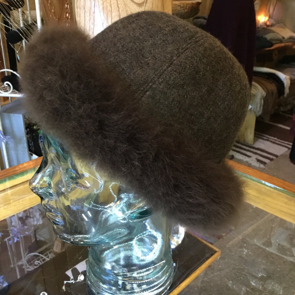 Fabric Fur Hat