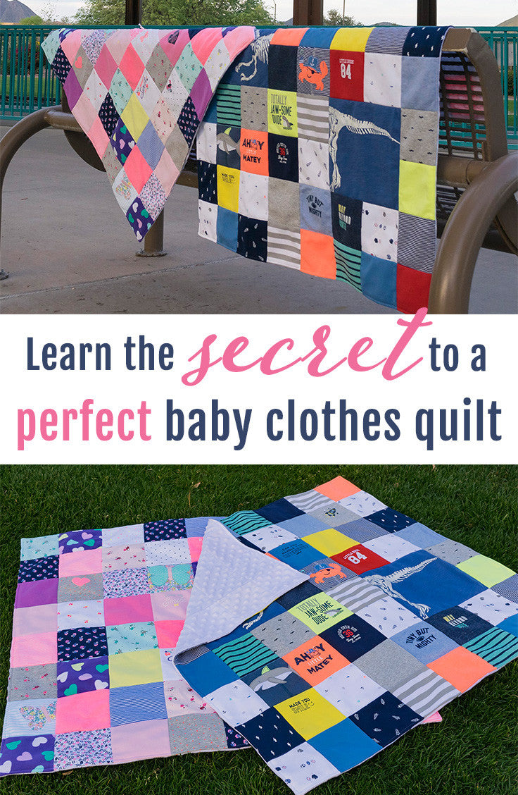 Make your own baby clothes quilt - secrets from a professional baby clothes quilt maker!