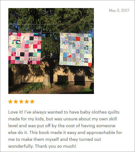 make your own baby clothes quilt review