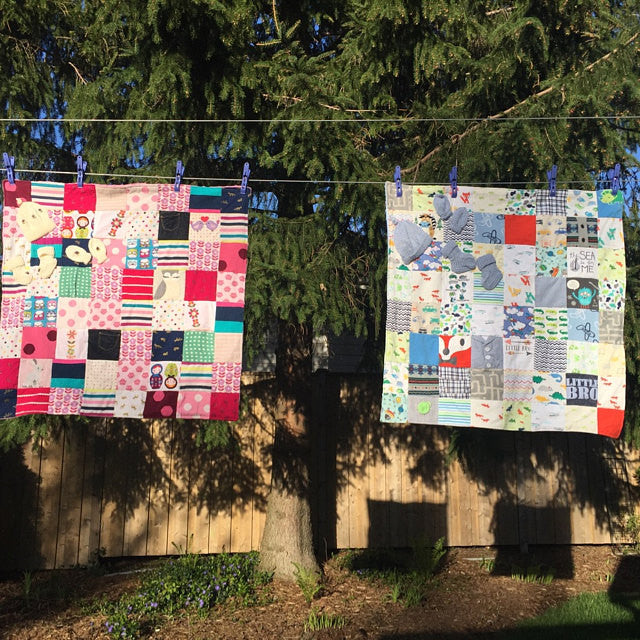 DIY Baby Clothes Quilts