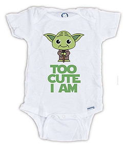 Too Cute Am I Yoda Baby Onesie