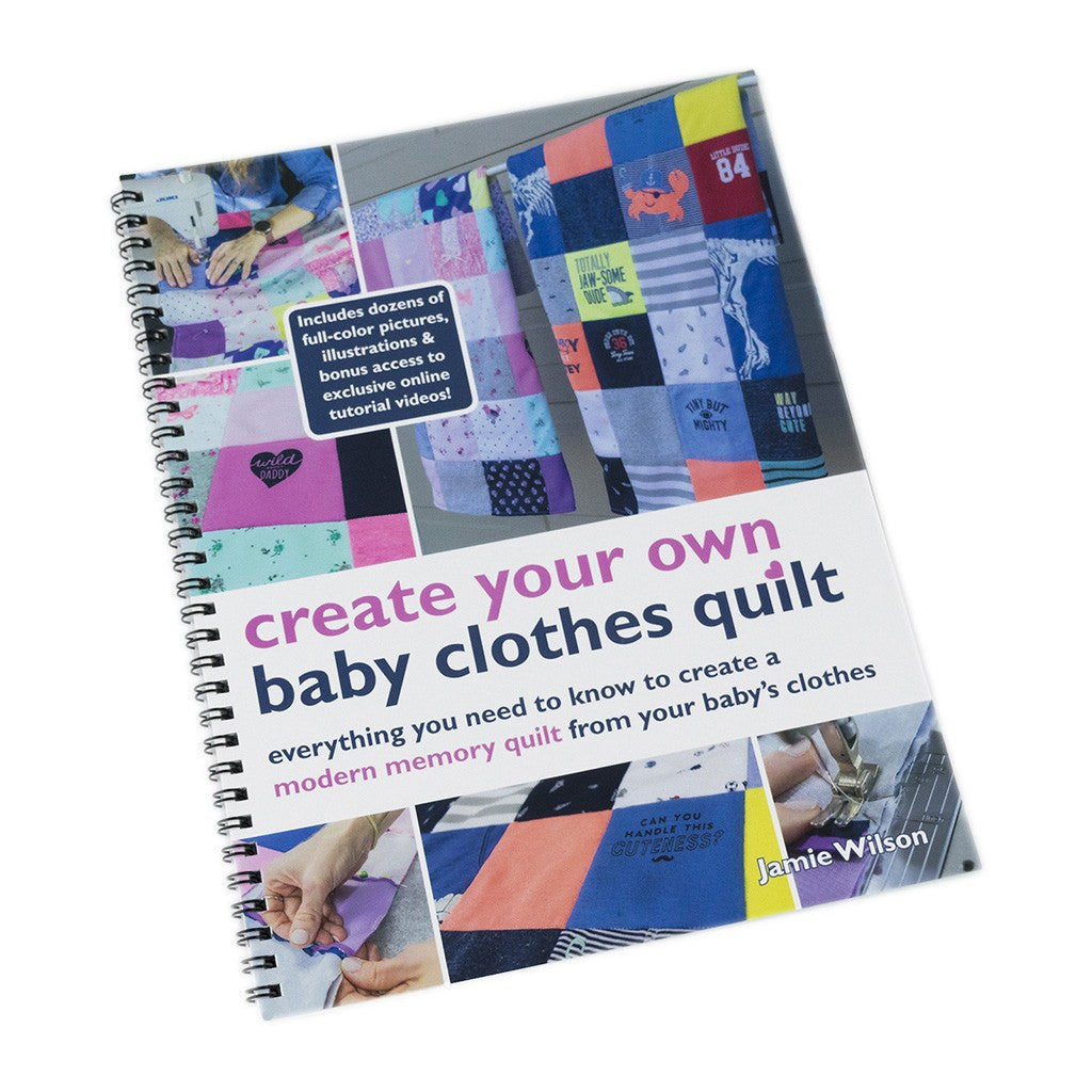 Create your own baby clothes quilt book pattern hard copy bundle how to create your own baby clothes quilt book solutioingenieria Images