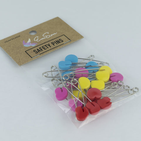 Heart Shaped Safety Pins - Eversewn