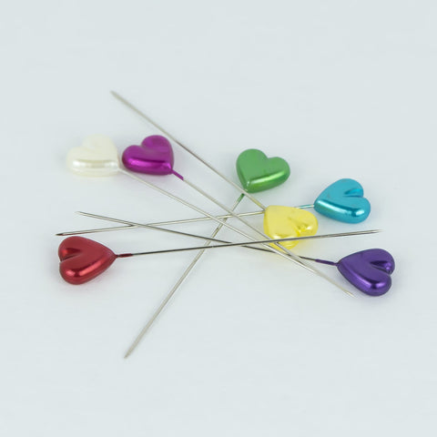 Dritz Heart Multicolored Straight Pins for Quilting and Sewing
