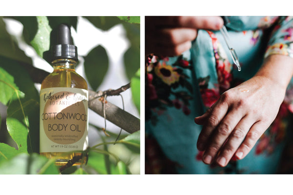 Natural body oils. Gathered and Grown Botanicals