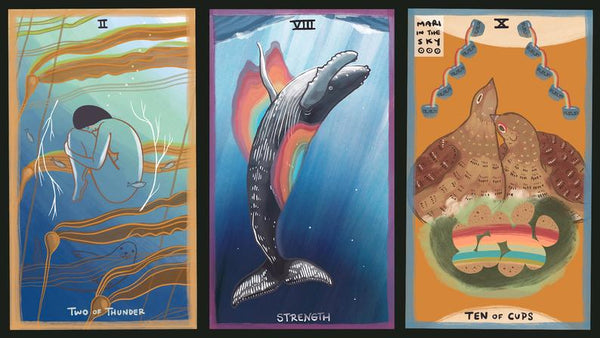 Card images from the Gentle Tarot deck