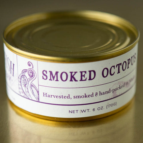 Wildfish cannery tinned smoked octopus