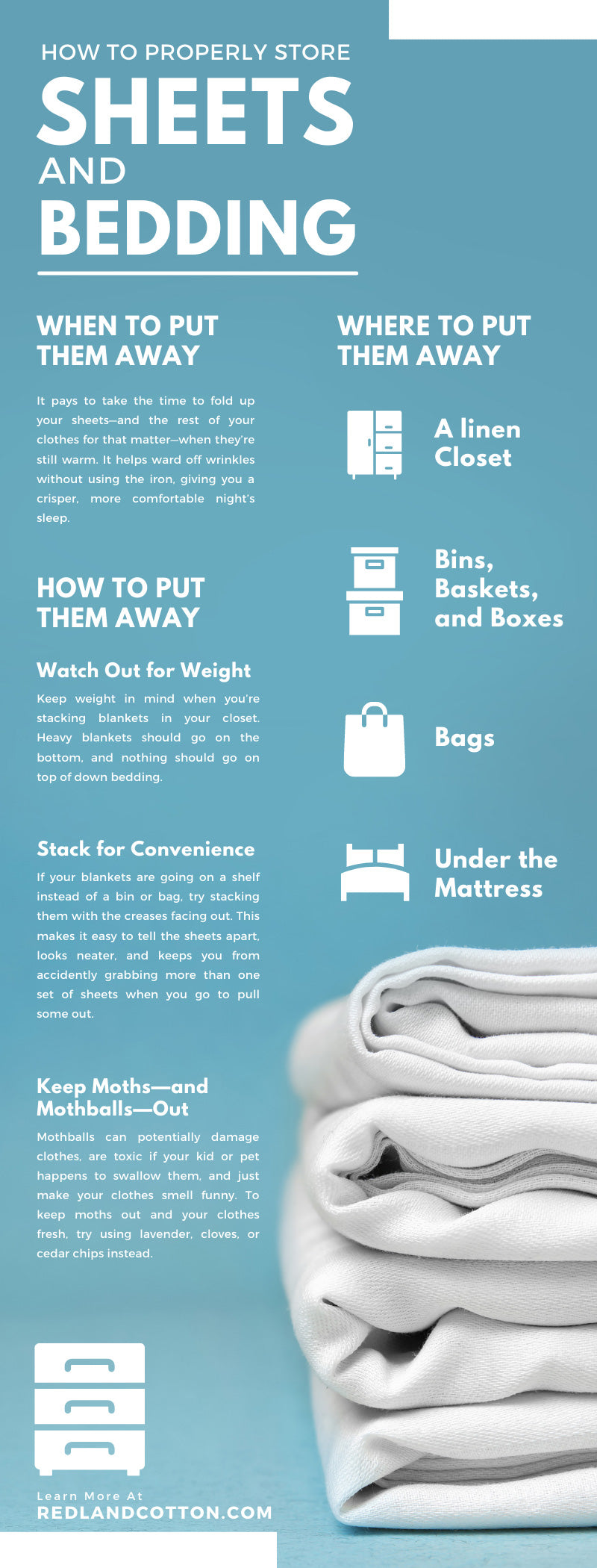 How To Properly Store Sheets and Bedding