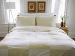 Natural & White Patchwork Duvet Covers