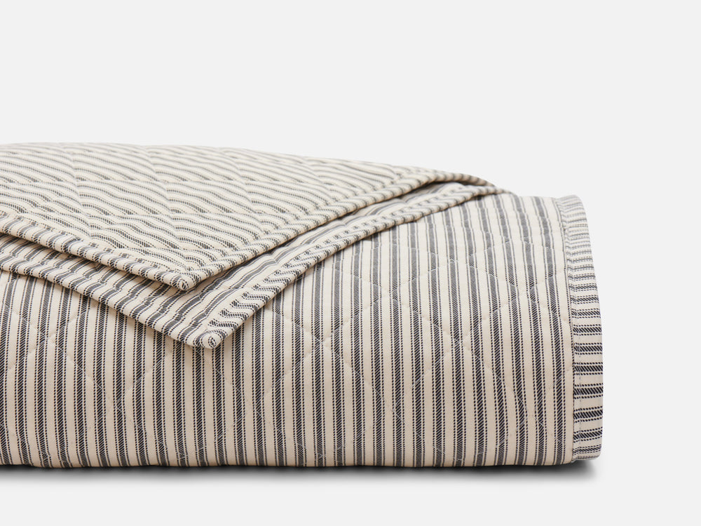 Lawrence Ticking Stripe Classic Quilt