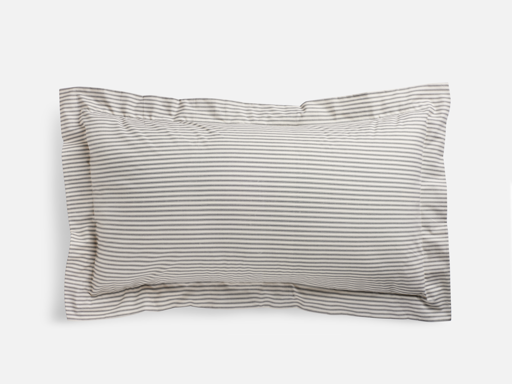 Lawrence Ticking Stripe King Sham