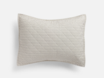 Ticking Stripe Quilted Standard Sham