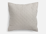 Lawrence Ticking Stripe Classic Quilted Euro Sham