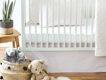 Pastel Stripe Crib Skirt