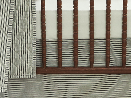Lawrence Ticking Stripe Primary Baby Bedding Bundle