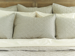 Lawrence Ticking Stripe Classic Quilted King Sham
