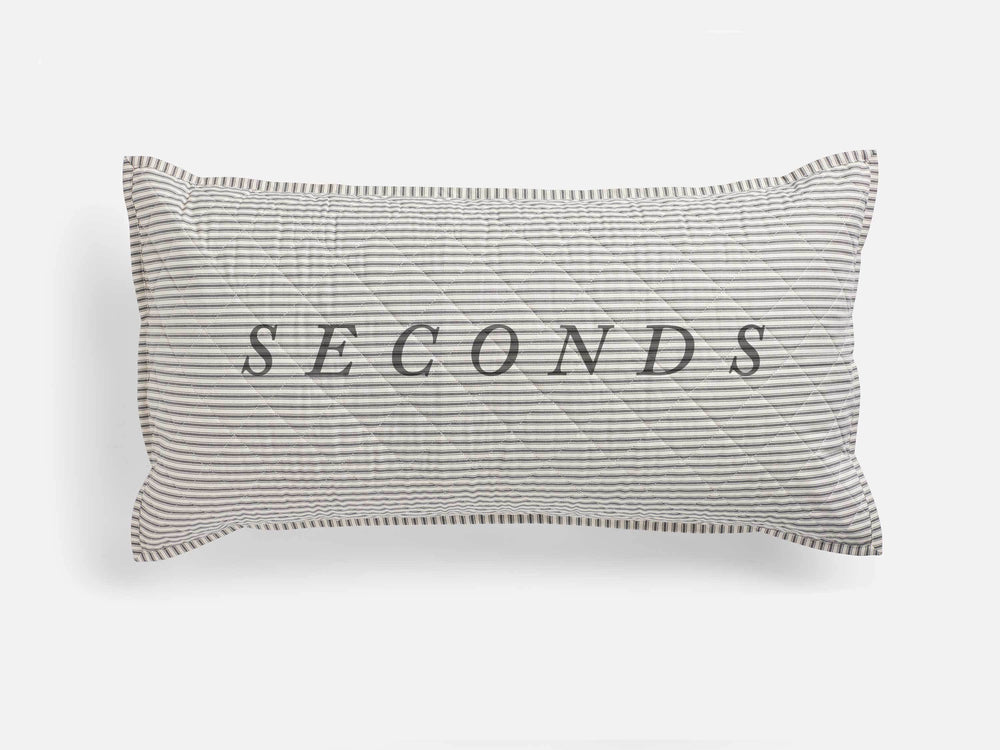 SECONDS — Ticking Stripe Quilted King Sham