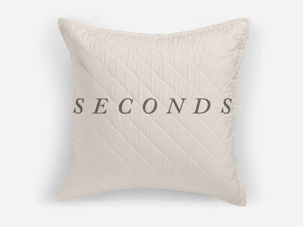SECONDS — Basic Quilted Euro Sham