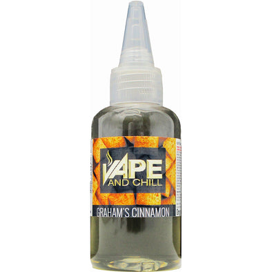 e-Liquid Grahams Cinnamon (Cinnamon Flavour) Non-Nicotine Vaping Juice by Vape and Chill 60-40 VG-PG (10ml Plastic Bottle)