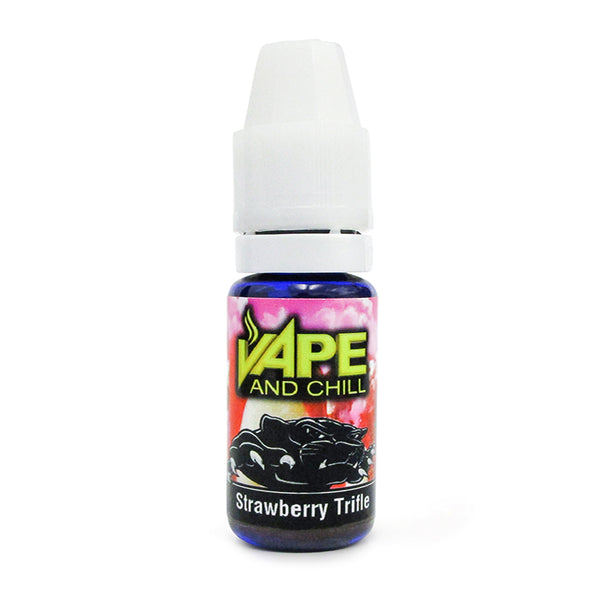 E Cigarette Liquid Strawberry Trifle Non-Nicotine Vaping Juice by Vape and Chill 70-30 VG-PG (10ml Plastic Bottle)