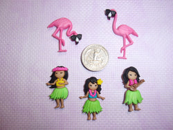 Hula and Flamingos needle minders