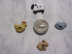 Farm Animal Button needle minders