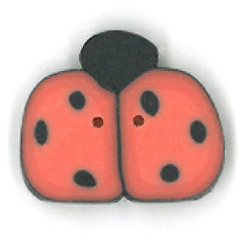 Medium Orange Ladybug Buttons