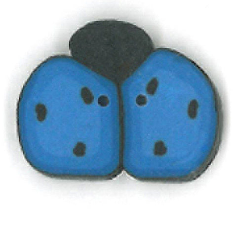 Medium Blue Ladybug Buttons