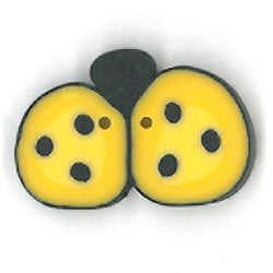 Medium Yellow Ladybug Buttons