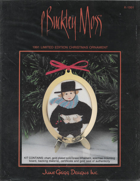 P Buckley Moss 1991 Limited Edition Ornament amish cross stitch pattern