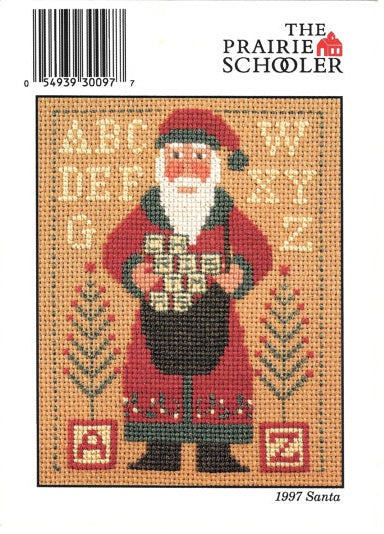 Prairie Schooler 1997 Santa Christmas cross stitch pattern