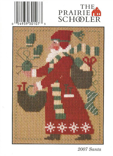 Prairie Schooler 2007 Santa Christmas cross stitch pattern