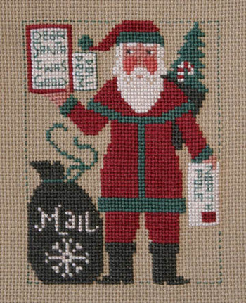 Prairie Schooler 2012 Santa Christmas cross stitch pattern